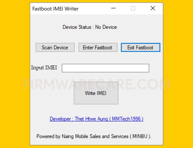 Fastboot IMEI Writer