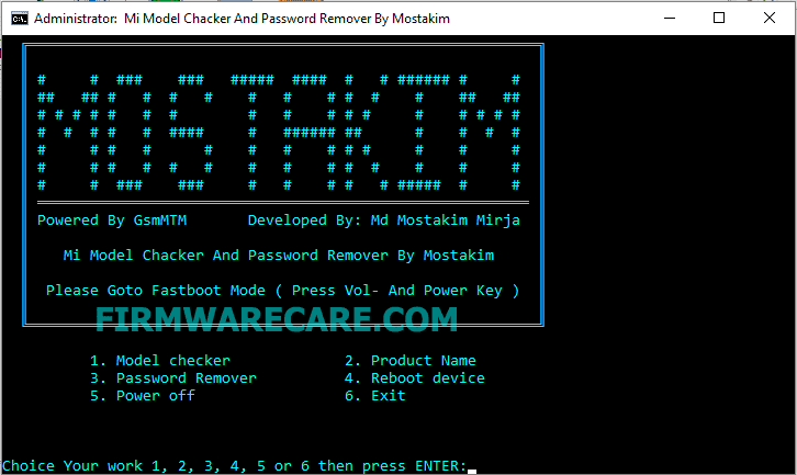 Mi Model Checker And Password Remover