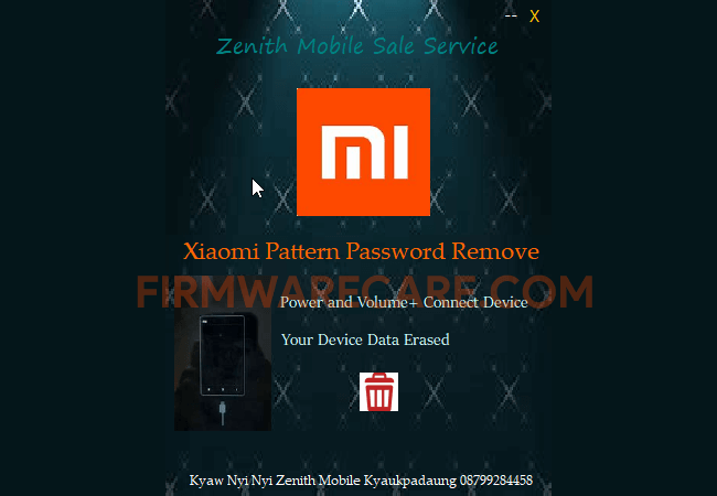 Xioami Pattern Password Remove Tool